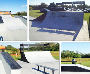 Barber Park in Orange County, Florida houses a free skate park that allows scooters.